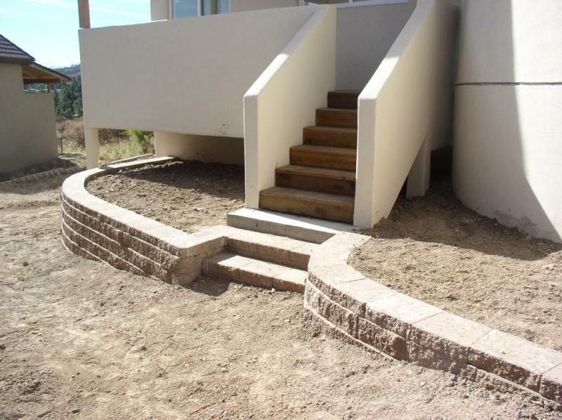 Denver Retaining Wall Installation Pictures